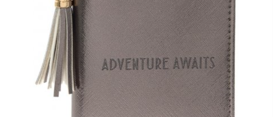 Adventure Awaits Metallic Passport Cover