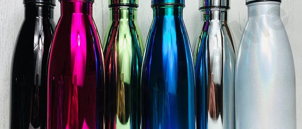 Metallic Solid Colour Screw Top Bottles - Mock Up