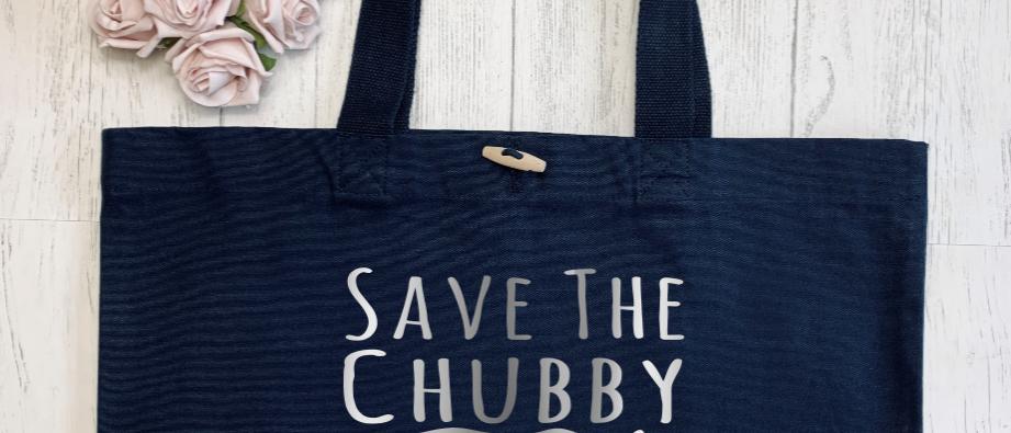 Save The Chubby Unicorns Organic Marina Tote