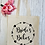 Thumbnail: Bride's Babes Love Circle Canvas Classic Shopper