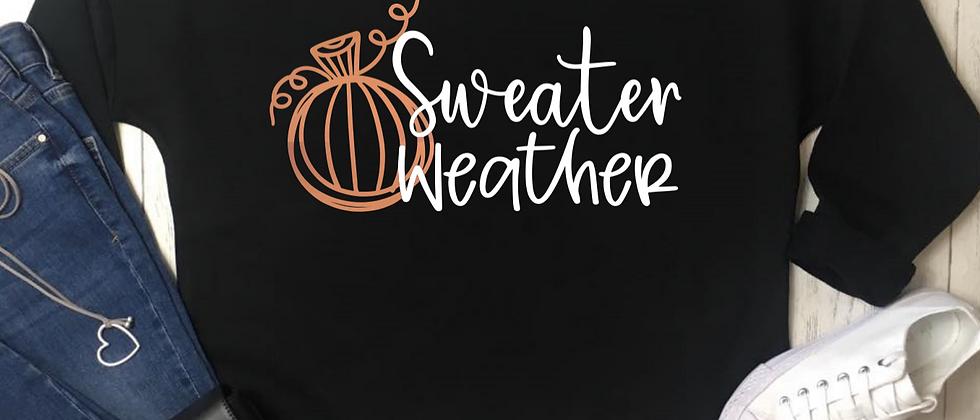 Sweater Weather Pumpkin Luxury Oversized Sweatshirt