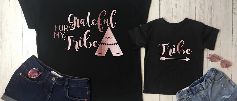 Grateful For My Tribe Tee Set