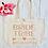 Thumbnail: Personalised Bride Tribe Hen Party Organic Marina Tote