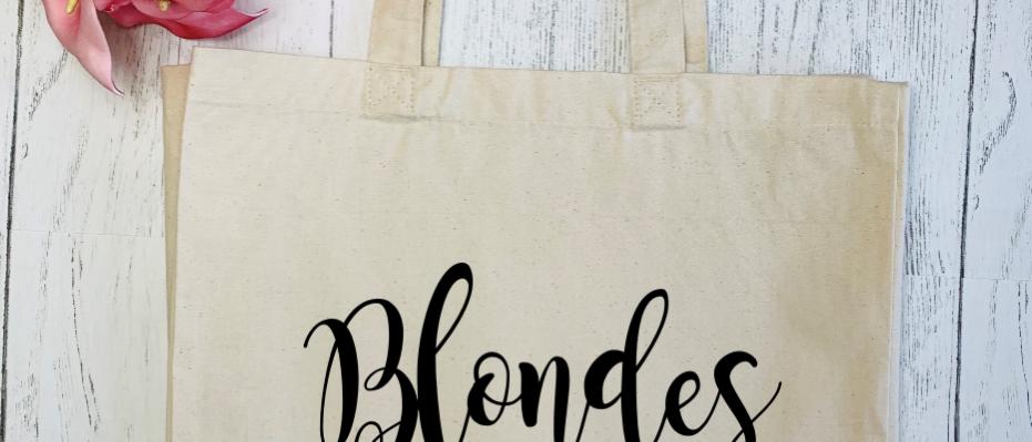 Blondes Do It Better Canvas Classic Shopper