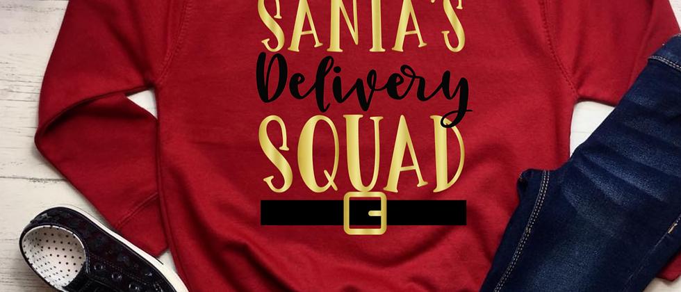Santa's Delivery Squad Christmas Kids' Sweatshirt