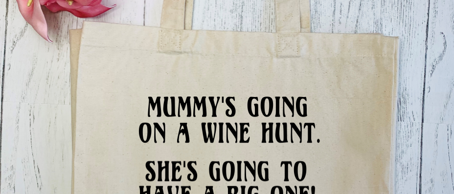 Mummy's Going On A Wine Hunt Canvas Classic Shopper