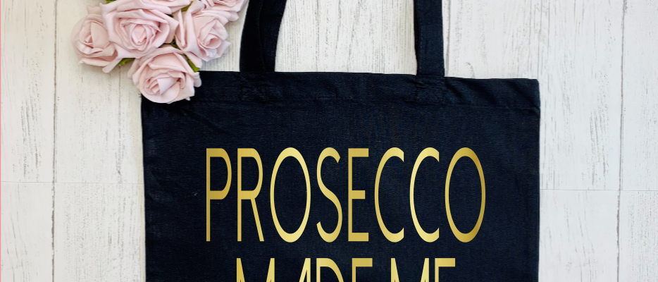 "Personalised Alcohol Made Me Do It Prosecco Vodka ""Bag For Life"" Tote"