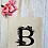 Thumbnail: Personalised Tropical Floral Letter Canvas Classic Shopper