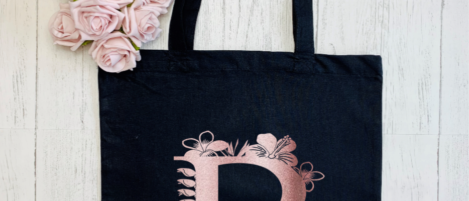 "Personalised Tropical Floral Letter ""Bag For Life"" Tote"