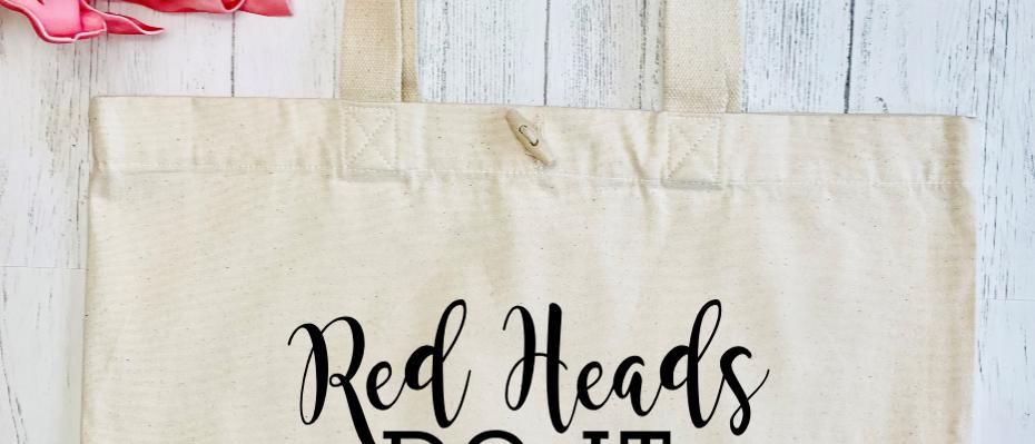 Red Heads Do It Better Organic Marina Tote