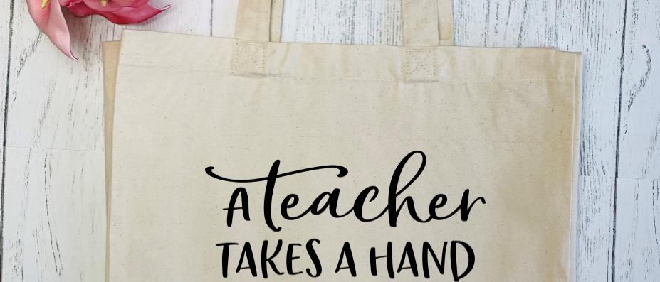 Teacher Takes A Hand Canvas Classic Shopper