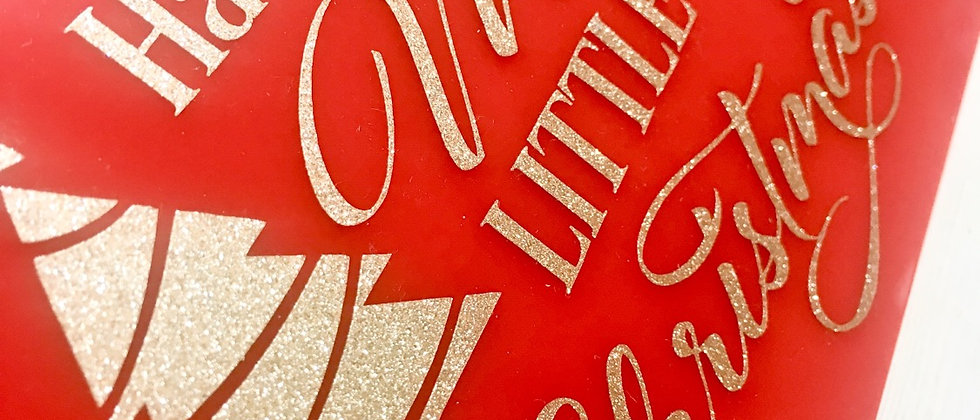Red Merry Little Christmas Acrylic Christmas Hanging Sign