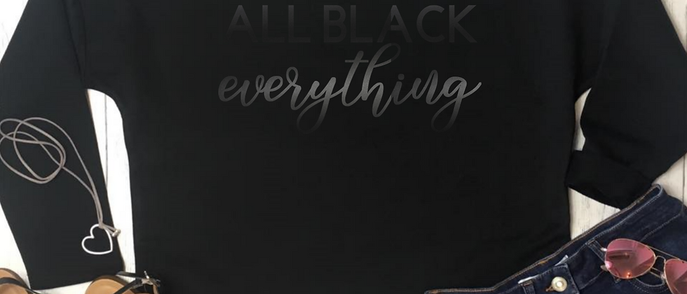 All Black Everything Luxury Oversized Sweatshirt