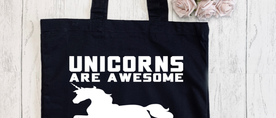 Unicorns Are Awesome Canvas Classic Shopper