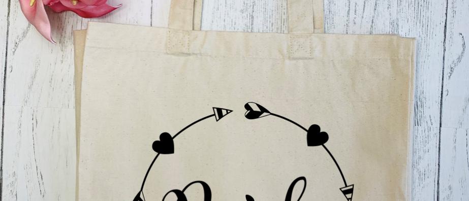 Bride Love Circle Canvas Classic Shopper