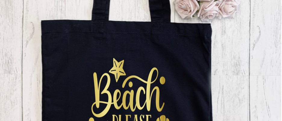 Beach Please I'm A Mermaid Canvas Classic Shopper