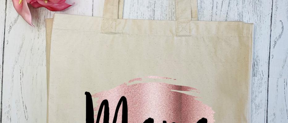 Brush Stroke Mama Canvas Classic Shopper