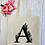 Thumbnail: Personalised Floral Letter Canvas Classic Shopper