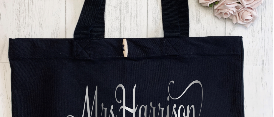 Personalised Mrs To Be Hen Bride Organic Marina Tote