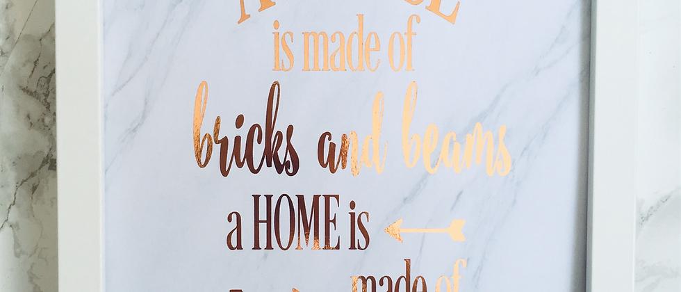 House Quote Foil Print