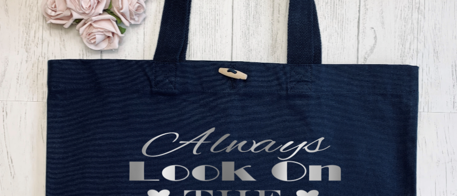 Always Look On The Bright Side Of Life Organic Marina Tote