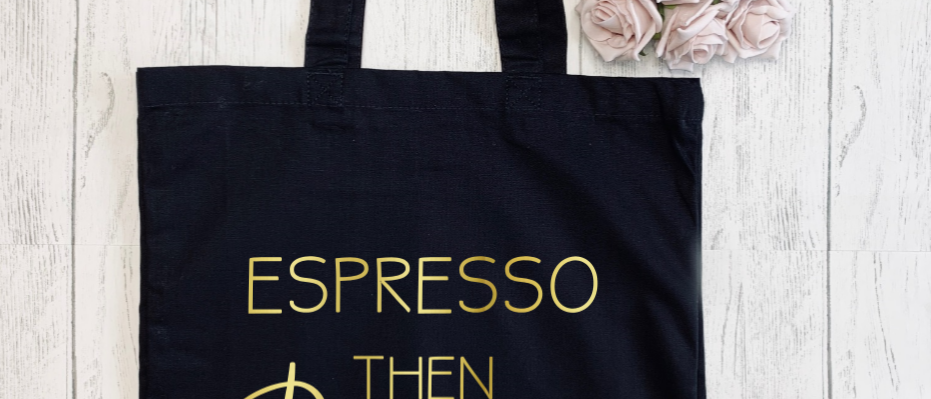 Espresso Then Prosecco Canvas Classic Shopper