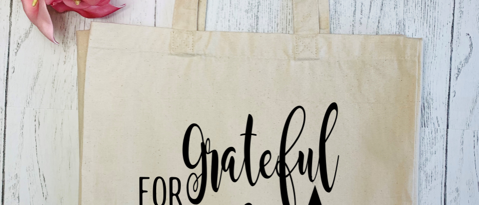 Grateful For My Tribe Canvas Classic Shopper
