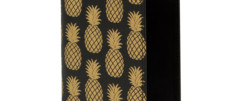 Gold Pineapple Passport Holder