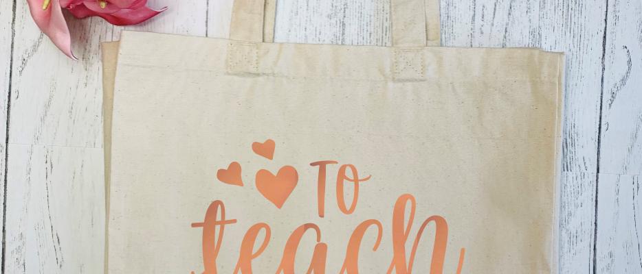 To Teach Is To Love Teacher Canvas Classic Shopper