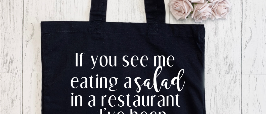 See Me Eating Salad Canvas Classic Shopper