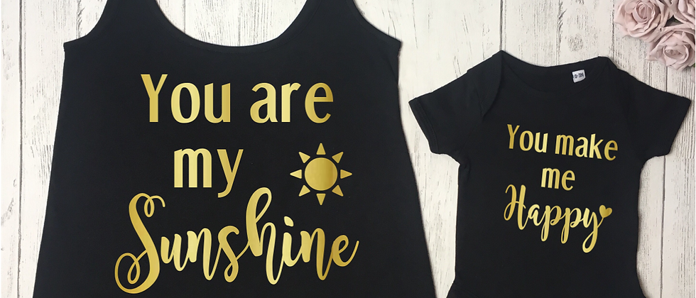 You Are My Sunshine Vest & Bodysuit Set