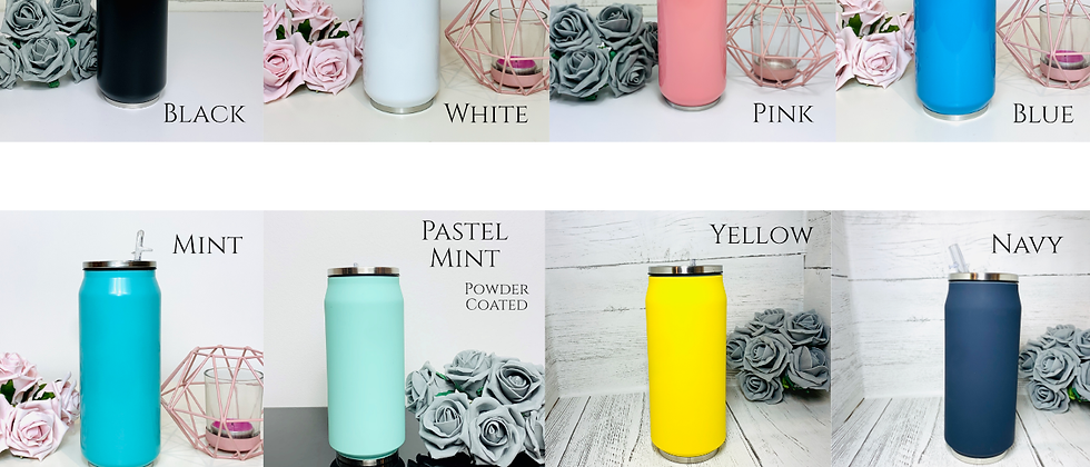Insulated Double Wall Soda Can with Straw Drinks Bottle