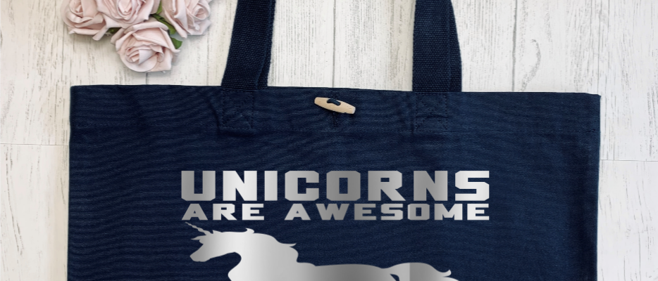 Unicorns Are Awesome Organic Marina Tote