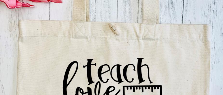 Teach Love Inspire Organic Marina Tote
