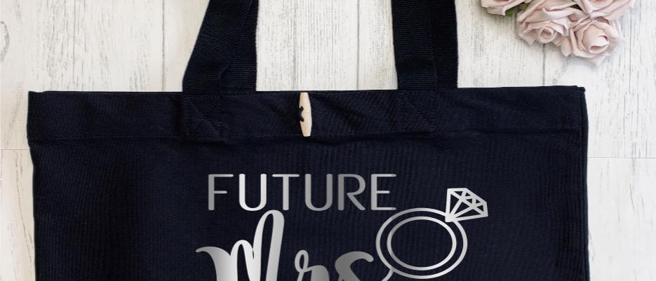 Personalised Future Mrs Hen Bride Organic Marina Tote