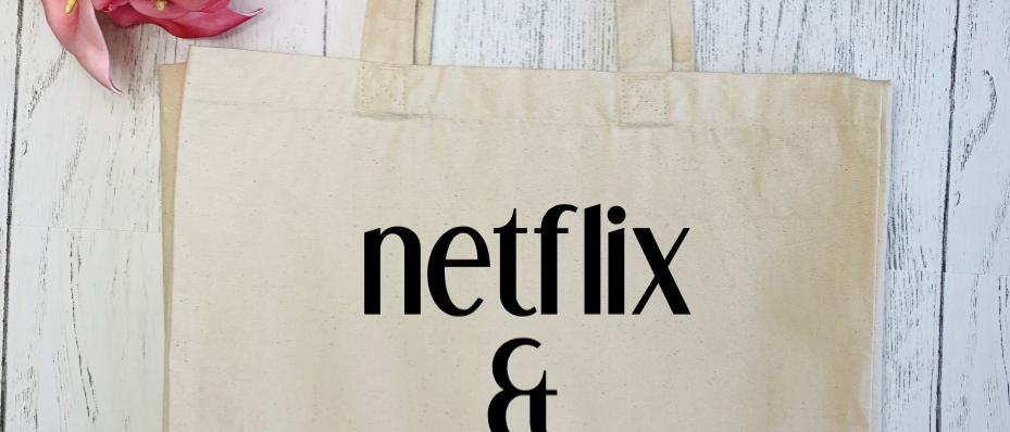 Netflix & Leave Me Alone Canvas Classic Shopper