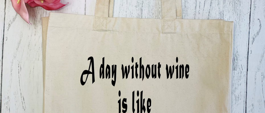 A Day Without Wine Canvas Classic Shopper