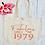 Thumbnail: Personalised Fabulous at Birthday Organic Marina Tote