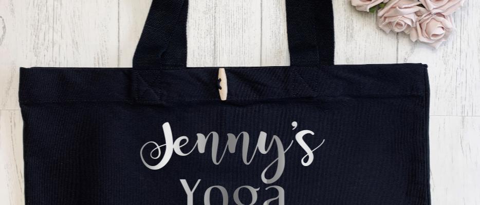 Personalised Yoga Pilates Hotpod Essentials Organic Marina Tote