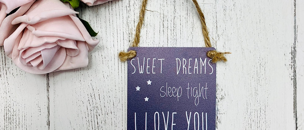 Sweet Dreams Mini Metal Sign