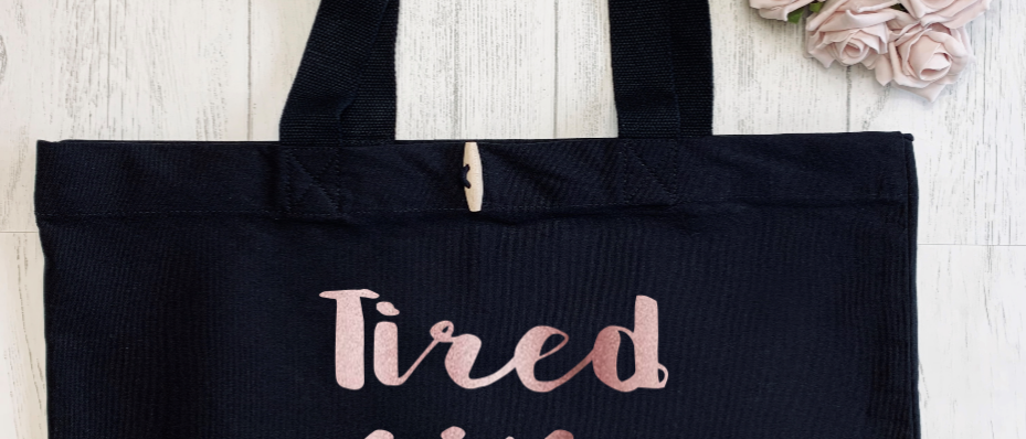 Tired As A Mother Organic Marina Tote