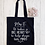 Thumbnail: Personalised Big Heart Little Minds Teacher Canvas Classic Shopper