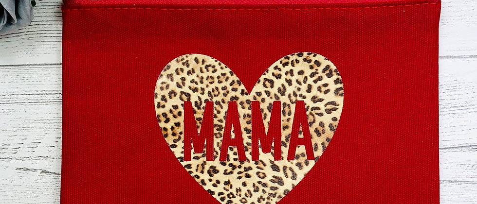 Red Canvas Make Up Pouch