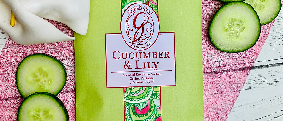 Cucumber & Lily Scented Sachet