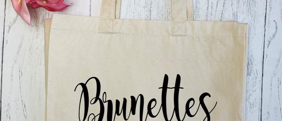 Brunettes Do It Better Canvas Classic Shopper