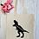 Thumbnail: Personalised Osaurus Dinosaur Canvas Classic Shopper