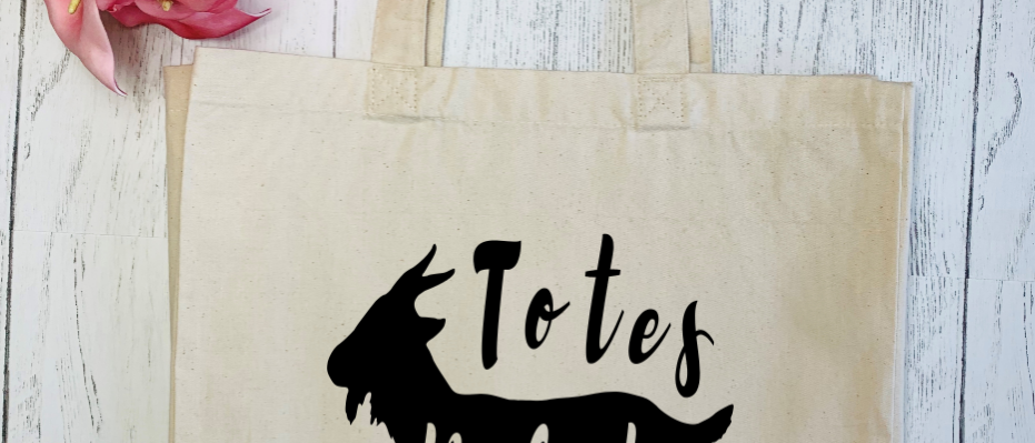 Totes Ma Goats Canvas Classic Shopper