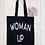 Thumbnail: Woman Up Canvas Classic Shopper