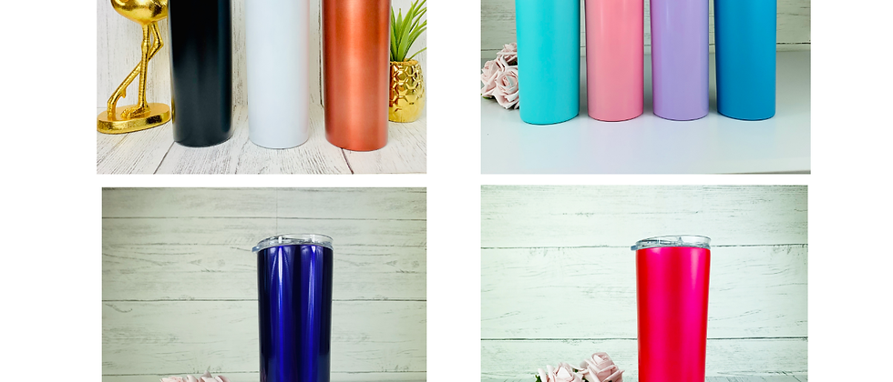 Double Wall Skinny Tumbler With Straw