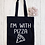 Thumbnail: I'm With Pizza Canvas Classic Shopper